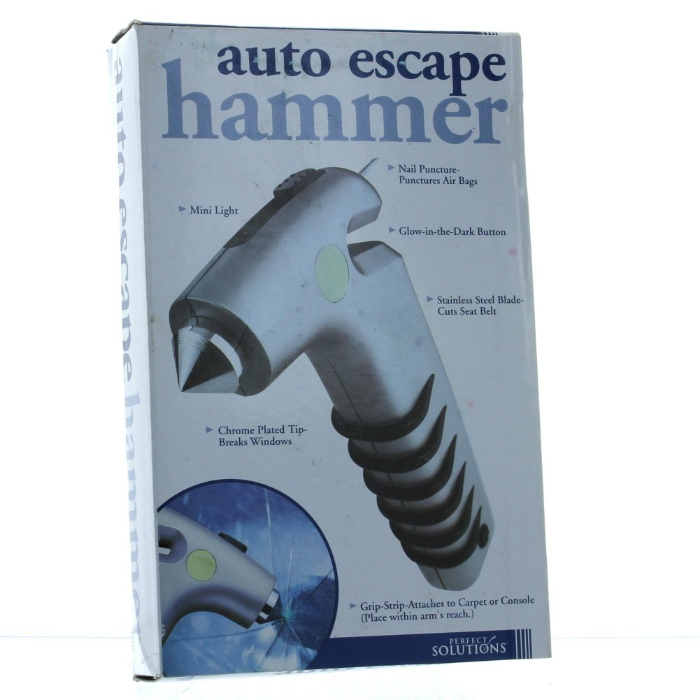 Perfect Solutions Auto Escape Hammer Rescue Tool Survival Gear ...