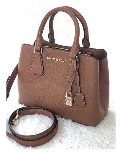 e55a90c44526 Amazon.com: Michael Kors Camille SM Satchel Leather Luggage ...