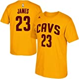 Lebron James Cleveland Cavaliers Gold Jersey Name and Number T-Shirt