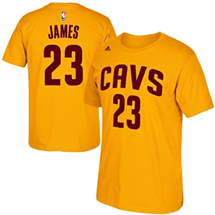 396d56f192f Amazon.com   Cleveland Cavaliers Lebron James Yellow Player T-Shirt ...