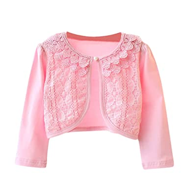 662c519a729e Amazon.com  LOSORN ZPY Little Girls Long Sleeves Lace One Button ...