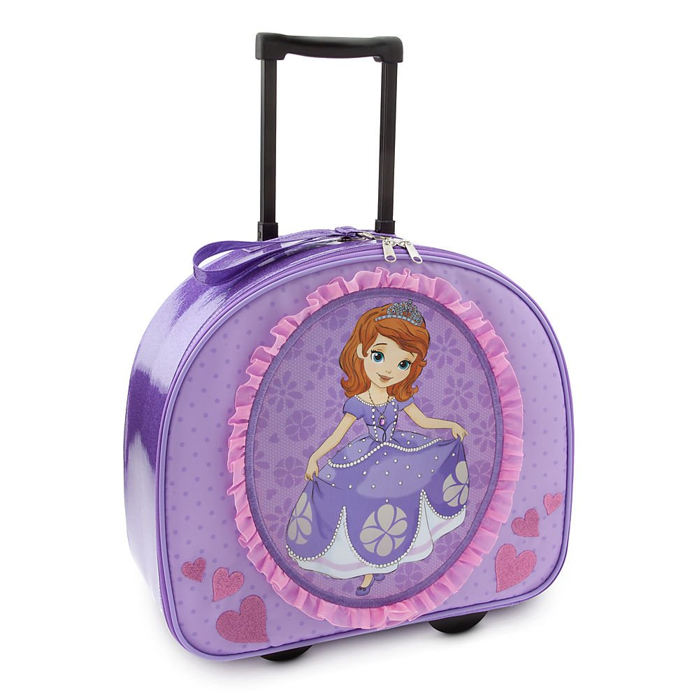 Disney Store Sofia the First Rolling Luggage/Carry-On Suitcase/Overnight Bag by Disney