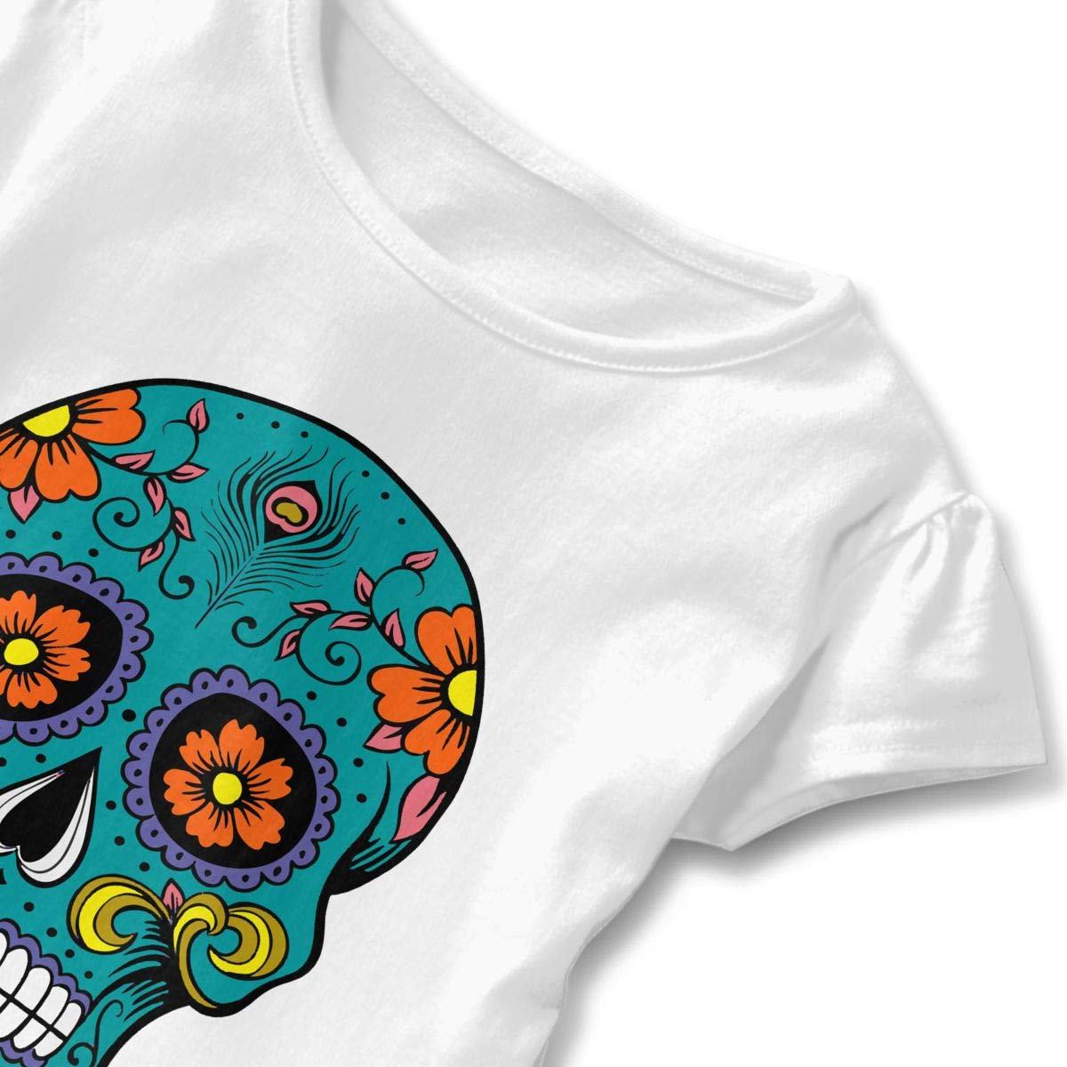 Sugar Skull Kids Children Round Collar Tee Sportwear