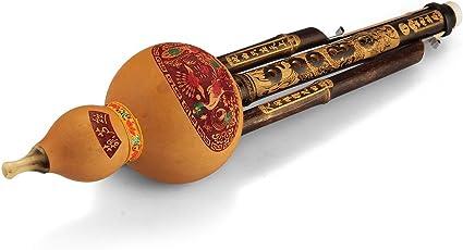 Chinese Hulusi Gourd Cucurbit Flute Bb C Yunnan Ethnic Instrument New Gift