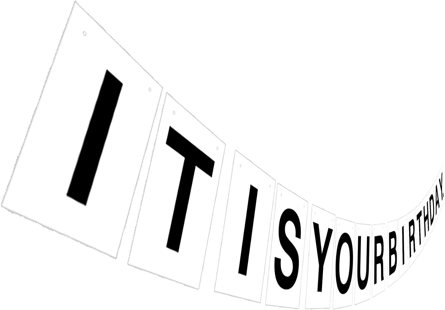 It Is Your Birthday Banner, Funny Text Birthday Sign, Office TV Show Quote Dwight Party Decoration