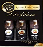 Coffee Syrups from Snowy Café 3 x 250ml Gourmet Mixed Flavours (HAZELNUT CARAMEL VANILLA) Christmas Gift Box