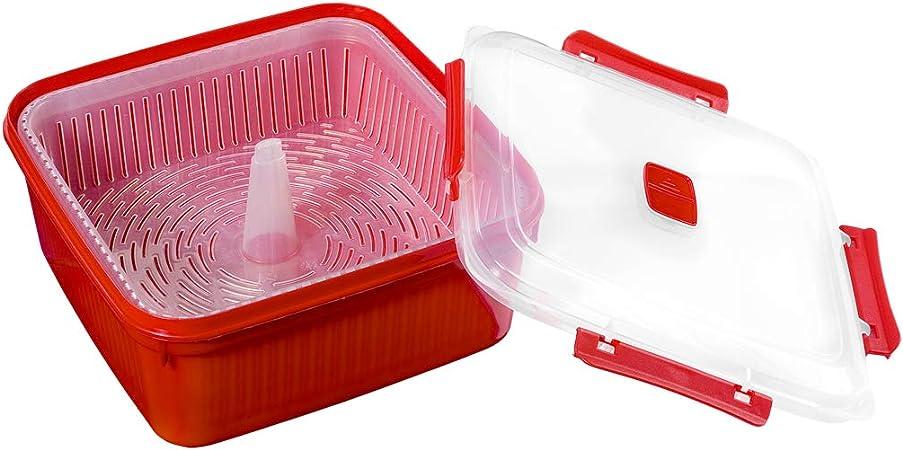 Smart-T-Haus Taper Cocina Vapor con Válvula, Rojo, 1.6 L: Amazon ...