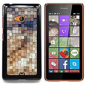 For Nokia Lumia 540 Case , Arte de la pared de madera Estructura de Diseño - Diseño Patrón Teléfono Caso Cubierta Case Bumper Duro Protección Case Cover Funda