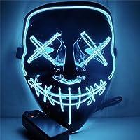Halloween Mask LED Light up Mask, Läskig mask för Festival Cosplay Halloween Kostym Maskeradpartier, Karneval, bar
