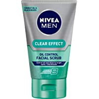 NIVEA MEN Clear Effect Oil Control Skin Cleansing Facial Scrub, 100ml