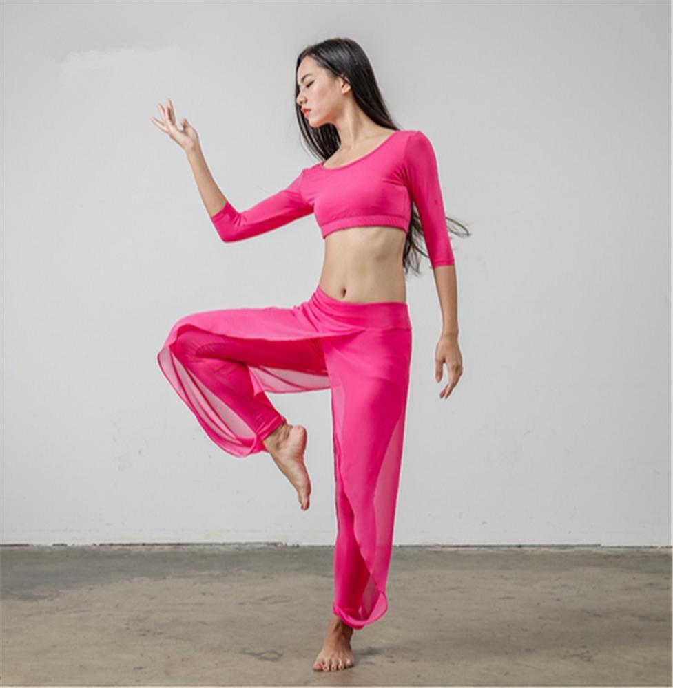 Peiwen Yoga - Kleidung Set Tanz Training tragen Tops + Hose einfarbig