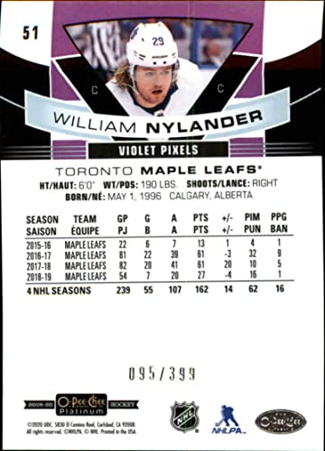 Amazon Com 2019 20 Opc Platinum Hockey Violet Pixels 51 William Nylander Serpr399 Toronto Maple Leafs Official Upper Deck O Pee Chee Nhl Trading Card Scan Streaks Are Not On The Card Collectibles Fine Art