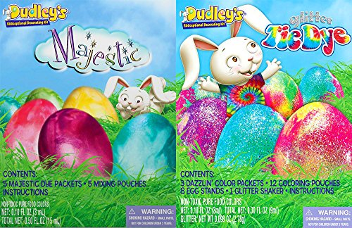 Easter Dudley's Majestic & Glitter Tie Dye Egg Decorating Kits