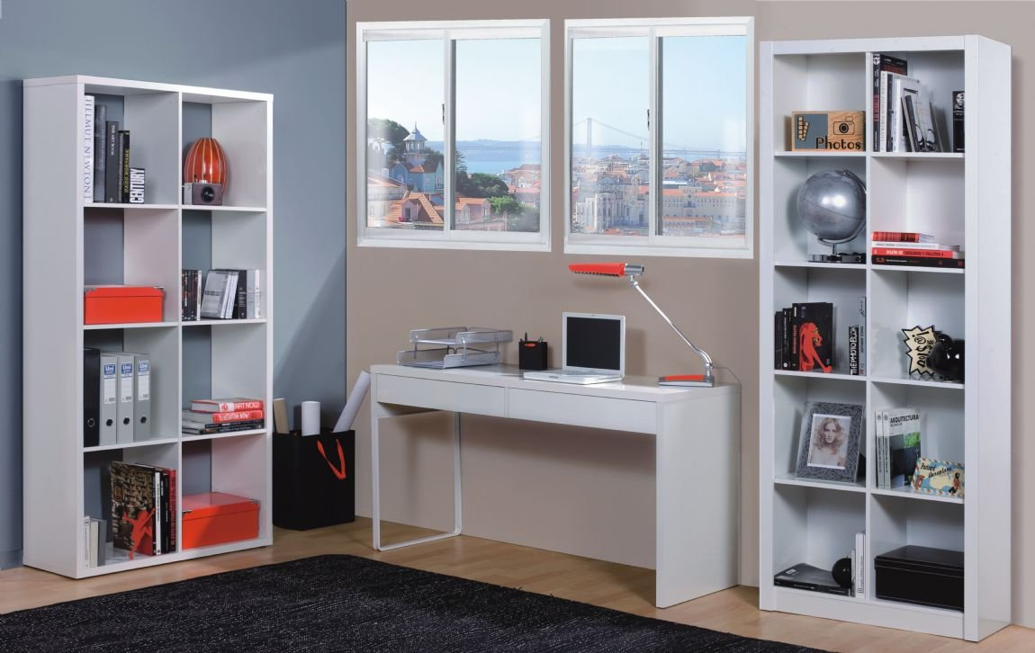 HABITMOBEL Mesa Escritorio, Color Blanco Brillo, Dimensiones 138 x ...