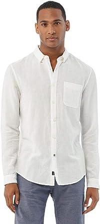 Salsa Camisa fit Slim de Lino: Amazon.es: Ropa y accesorios
