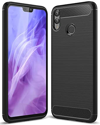 Huawei Honor 8X case, Huawei V10 lite/View 10 Lite Sucnakp TPU Shock Absorption Technology Raised Bezels Protective Case Cover Honor 8X Phone(Black)