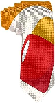 Corbata amarilla para hombre Tortilla con cinta roja Corbata de ...