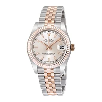 12036459be6 Image Unavailable. Image not available for. Color: Rolex Datejust 31 Silver  Dial Steel 18kt Everose Gold Jubilee Automatic Ladies Watch 178271SSJ