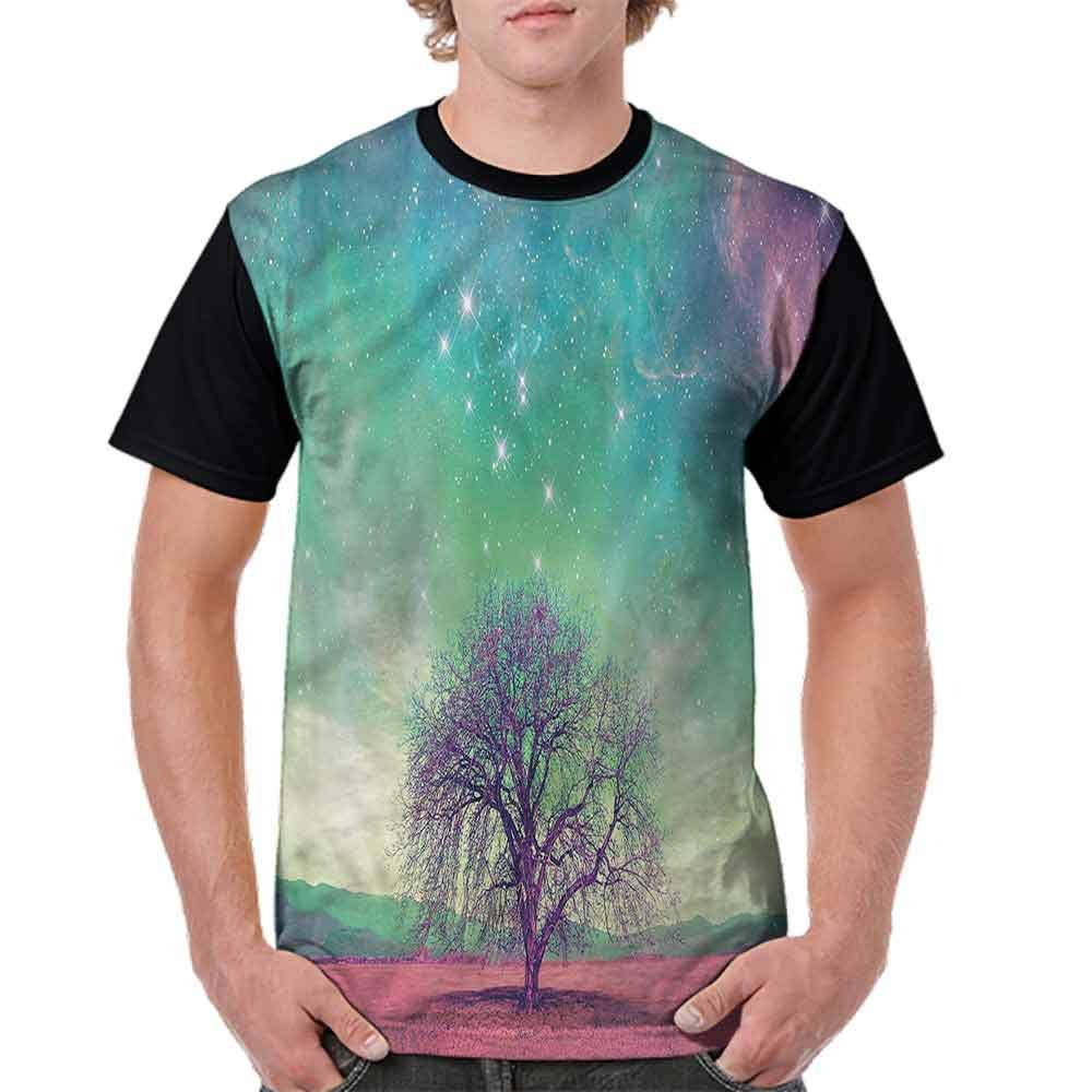 BlountDecor Fashion T-Shirt,Trees with Many Stars Fashion Personality Customization