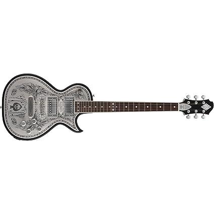ZEMAITIS antanus a24mf Metal frontal Aces & 8 acabado en negro de guitarra eléctrica con funda