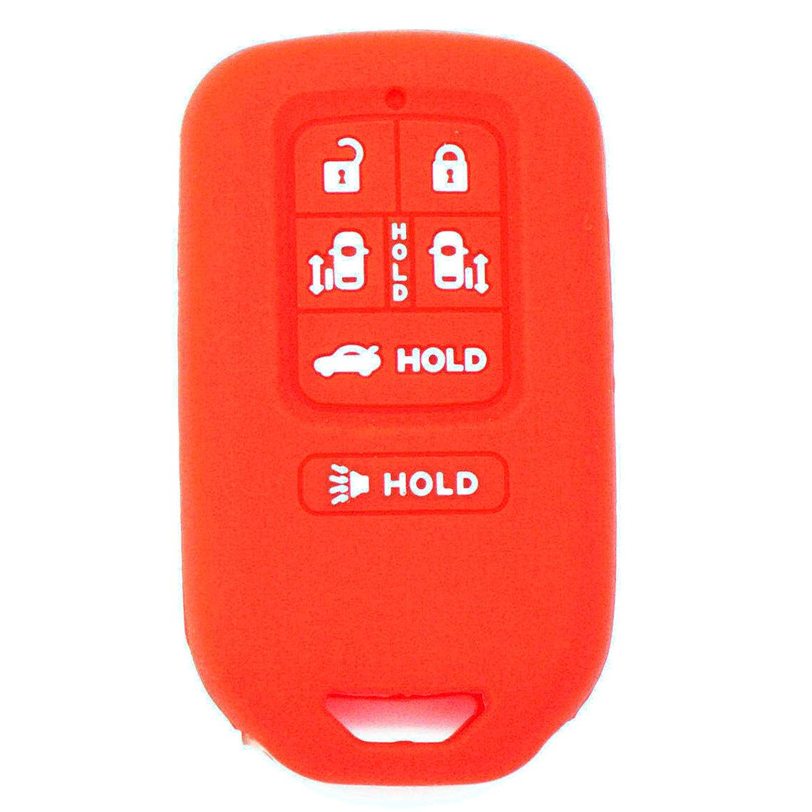 WFMJ 2Pcs Red Blue 6 Buttons Silicone for 2014 2015 2016 2017 Honda Odyssey EXL KR5V1X Smart Remote Key Case Chain Cover Case Fob