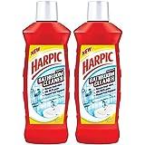 Harpic Bathroom Cleaner Lemon, 1 L (Pack of 2)