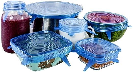 Bwsm – Tapas de silicona reutilizables para tapar ollas, cuencos ...