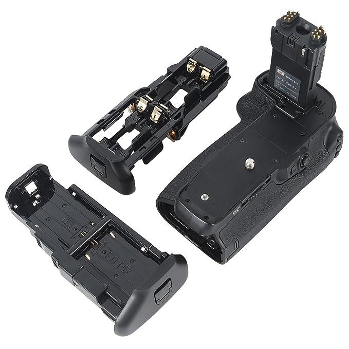 repuesto para Canon BG-E16 Empu/ñadura para bater/ía Canon 7D Mark II con dos bater/ías LP-E6 o seis pilas AA y LR6 Ruili Vertax E16