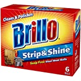 Brillo Strip & Shine 24 Packages of 6