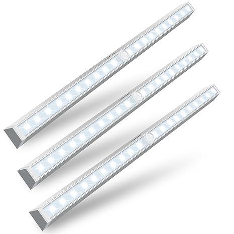 3 unidades luz del sensor de movimiento, LOFTER batería inalámbrica en cualquier lugar adhesiva batería