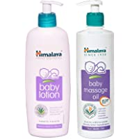 Himalaya Herbals Baby Lotion (400ml) and Massage Oil (500ml) Combo