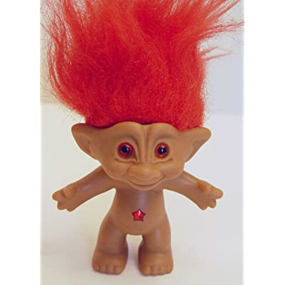 "Ace Novelty Red Hair Treasure Jewel Troll Doll 4.5"" Tall: Toys & Games"