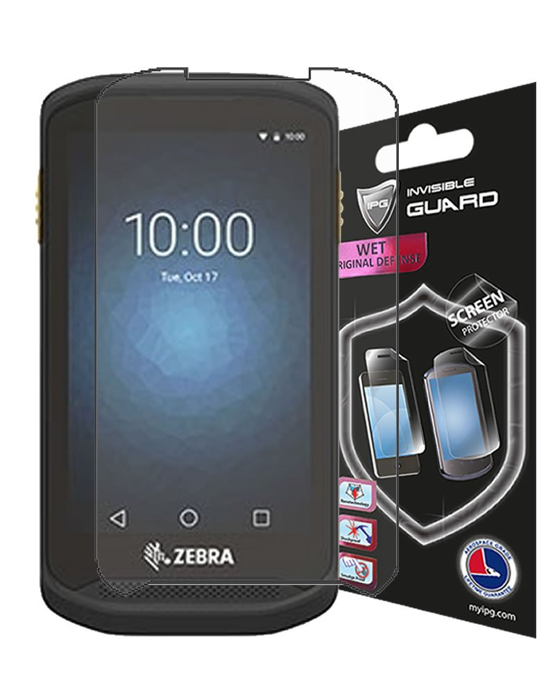 Zebra TC20 / TC25 Series Handheld Mobile Computer Screen Protector 6 UNITS Invisible Guard Free Lifetime Replacement Warranty HD Clear Bubble -Free screen cover By IPG (Clear Shiny)