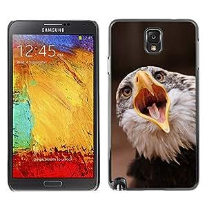 A-type Arte & diseño plástico duro Fundas Cover Cubre Hard Case Cover para Samsung Note 3 N9000 (Boca grande Águila)
