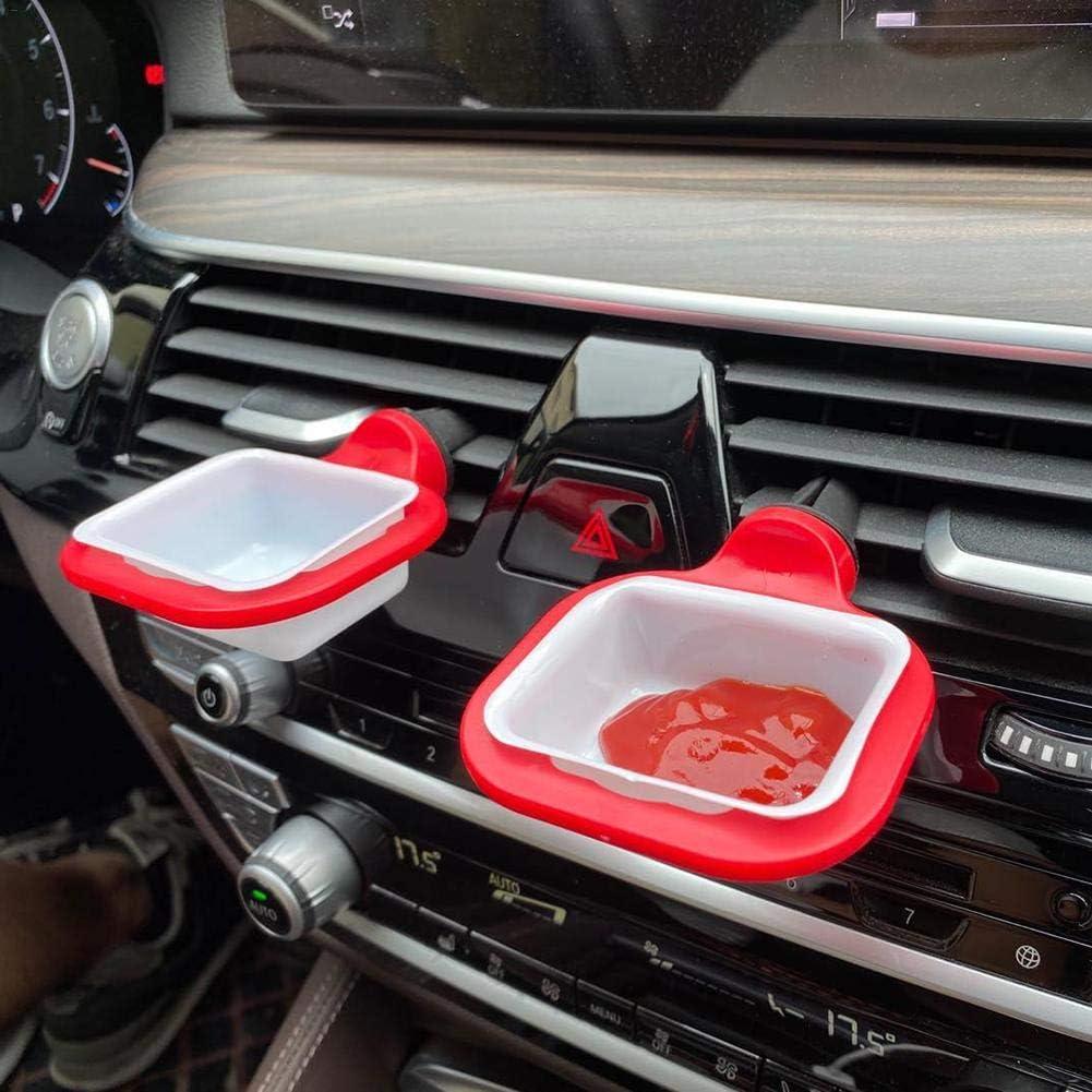 Mini-Dip-Becher 2 St/ück rot abnehmbar Saucen-Container f/ür L/üftungsschlitze des Fahrzeugs Dip-Saucen Saucem-Clip wiederverwendbar Saucen-Halter f/ür Ketchup Wateralone Saucen-Halter f/ür Kfz