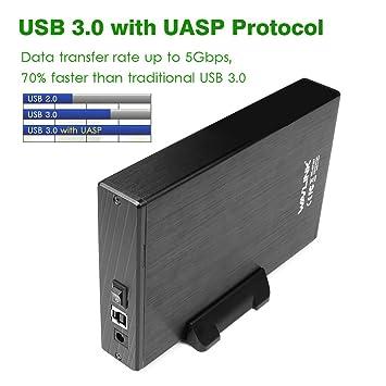 Wavlink Disco Duro 3,5 pulgadas carcasa USB 3.0 A Sata Ⅰ/Ⅱ ...