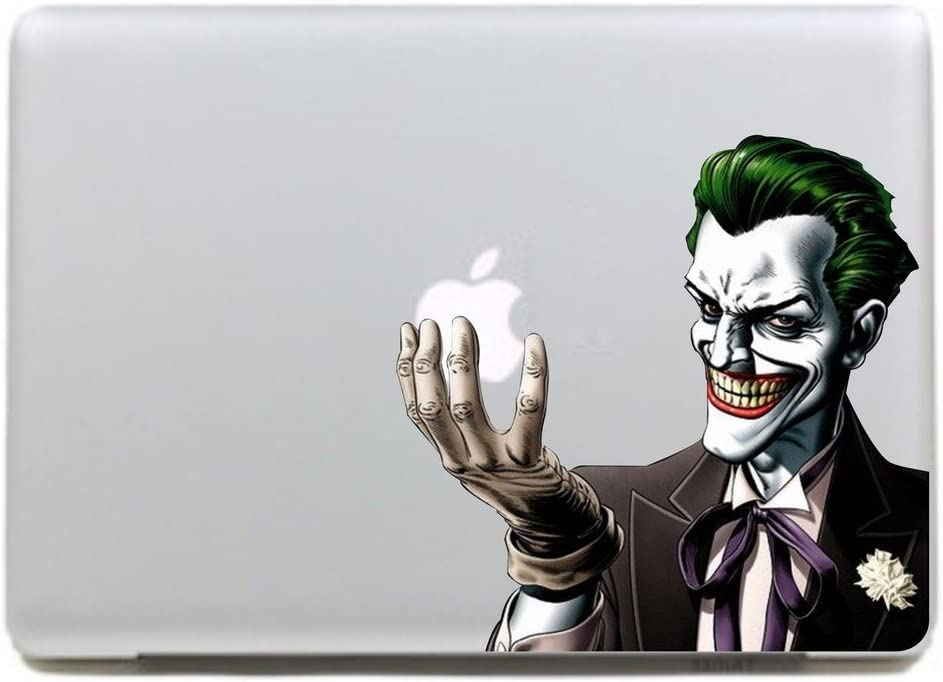 Kujian Clown Creative Decorative Decals Stickers for Apple Mac Macbook Air Pro Laptop Stickers Current 11 13 15 17 inches