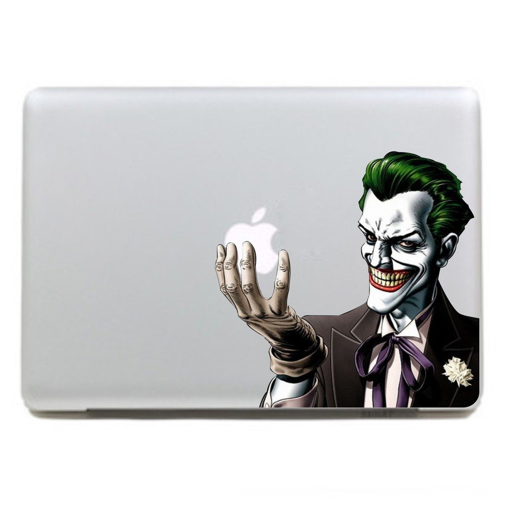 Amazon com kujian clown creative decorative decals stickers for apple mac macbook air pro laptop stickers current 11 13 15 17 inches cell phones