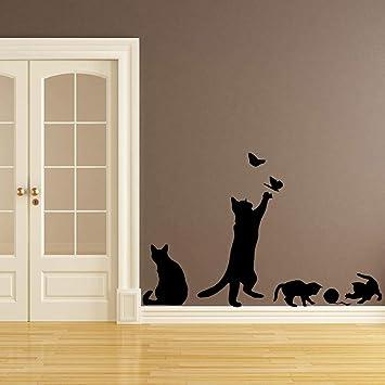 Belleza gato pared Mural etiqueta de la pared para habitaciones de niños Nursery Room Decor 58 * 68cm: Amazon.es: Bricolaje y herramientas