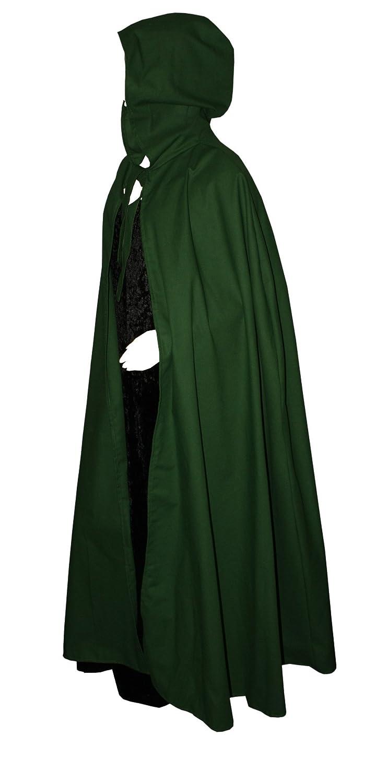 Kreativwunderwelt Umhang aus schwerer schwerer schwerer Baumwolle - 160cm - grün - runde Kapuze d7f6d4