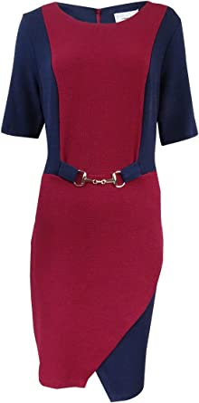 ROBBIE BEE Womens Elbow Sleeve Dress for Missy Size