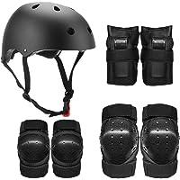 Lixada Casco Infantil Multi Deportes 7 en 1 Kit de Equipo de Protección de Seguridad Rodilleras Muñequeras para Patinaje…