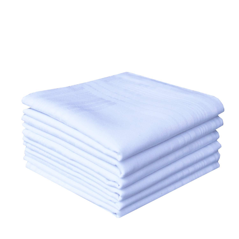 Men's Pure Cotton Handkerchiefs White