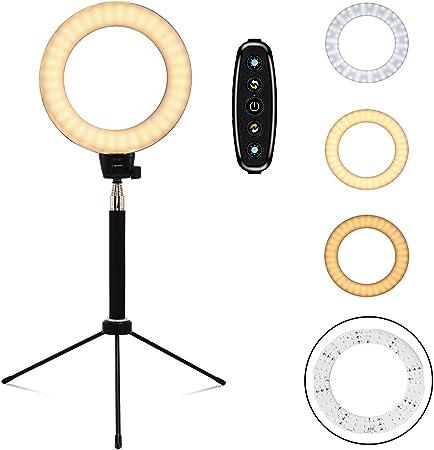 Freesoo Ringleuchte 6 Zoll Ringlicht 10w Dimmbar Tisch Kamera