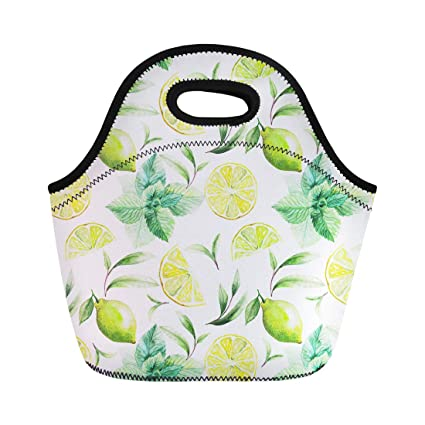 987a1e120282 Amazon.com: Semtomn Lunch Tote Bag Nice Pattern of Tea Leafs and ...