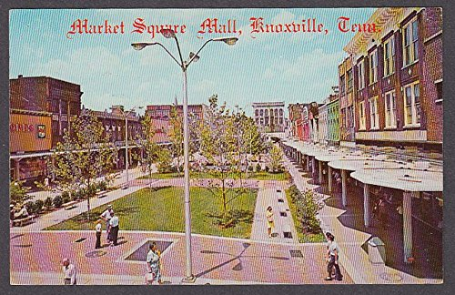The Market Square Mall Knoxville TN postcard - Malls Knoxville Tn