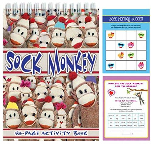 iscream Sock Monkey 96-page Spiral Bound 8.5