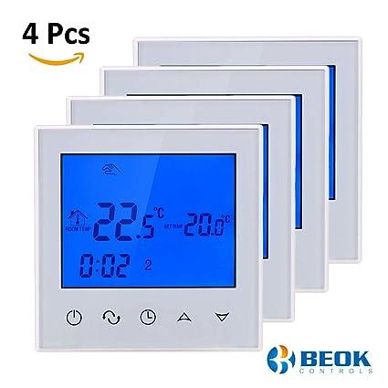 beok tds21-wp agua calefacción por suelo radiante Termostato digital con pantalla táctil, programable