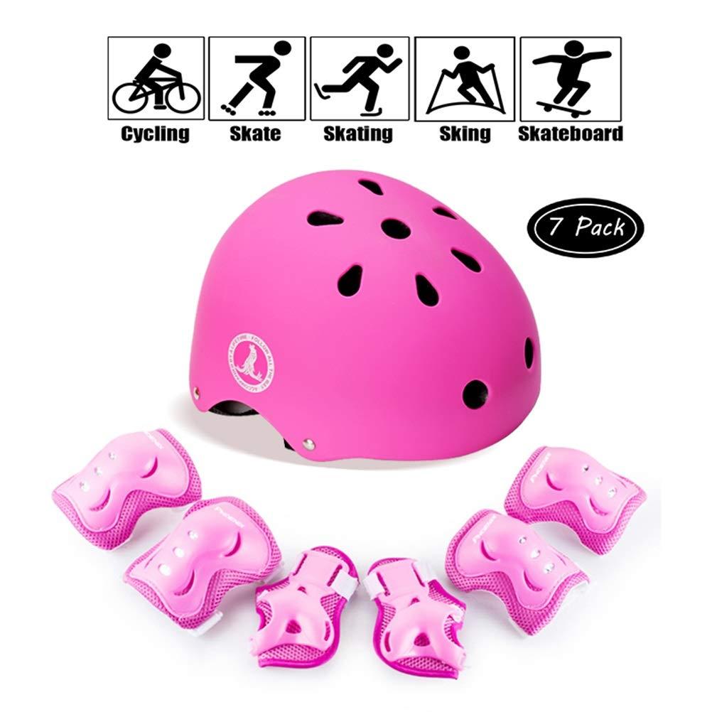 GYL-JL Kids' Girl Cycling Protective Gear Set Bike Pink