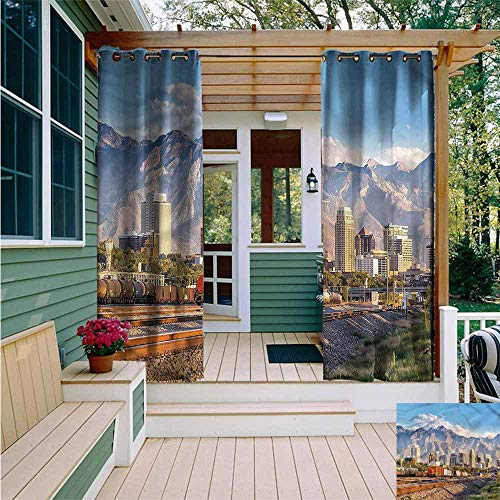 Beihai1Sun Outdoor Curtain Panel for Patio,Landscape Salt Lake City Utah USA,Great for Living Rooms & Bedrooms,W108x96L]()